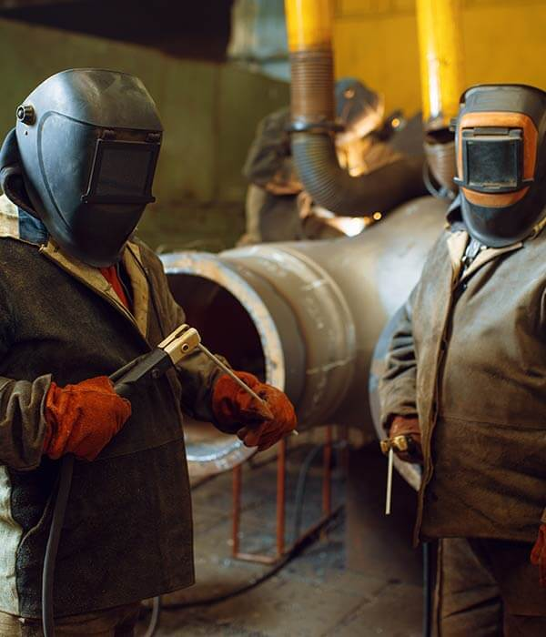 Two Welder In Masks Prepares To Work With Metal Ktpad5L - Mkitsol - Innovative Technology Solution Company